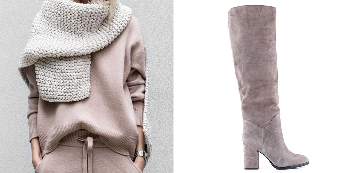 Тренд цього сезону - зимові чоботи c натуральним хутром - Інтернет ... 95c3056e00112